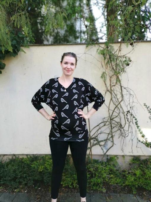 ebook Schnittmuster Mette-Marit sewing pattern maternity nursing top shirt pullover oberteil schwangerschaft umstandstop Stillshirt sewing diy selber nähen