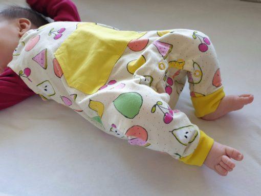 ebook Schnittmuster Baby Strampler Oscar selber nähen