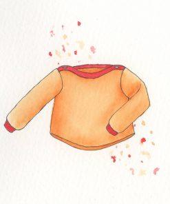 ebook Schnittmuster Baby Pullover Shirt Charlotte selber nähen