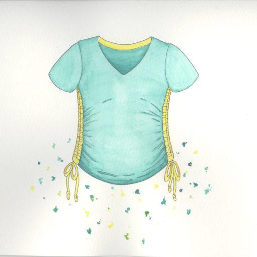 ebook Schnittmuster Umstandsshirt schwangerschaftsshirt shirt schwangerschaft langarm tshirt